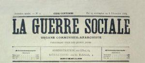 """""""La guerre sociale"""" vieux journal anarchiste du 19ème siècle"""